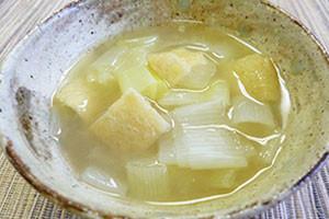 長ねぎゴロゴロ味噌汁